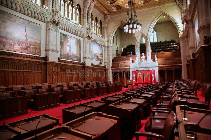 строя канадский нутряной парламент стоковое изображение