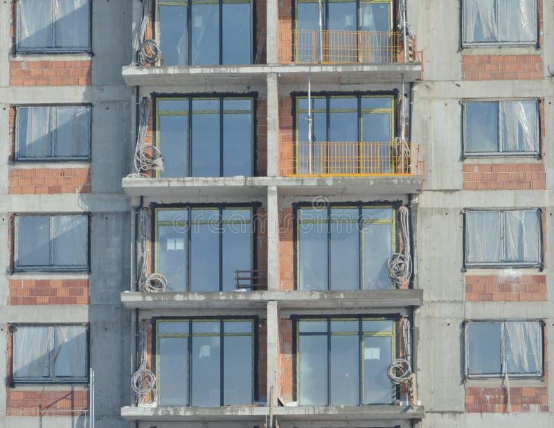 строя конкретная конструкция справляется стены места стоковые изображения