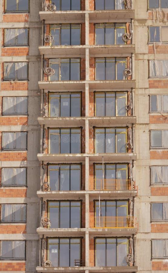 строя конкретная конструкция справляется стены места стоковая фотография