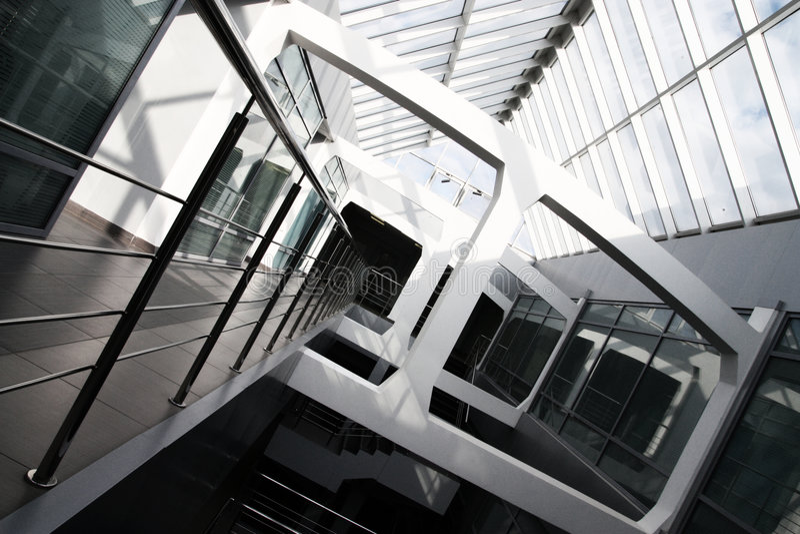 строя нутряной самомоднейший офис стоковое изображение