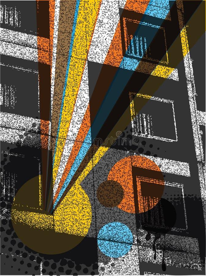 строя радуга шипучки урбанская иллюстрация вектора