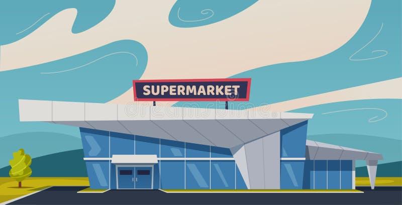 строя самомоднейший супермаркет alien кот шаржа избегает вектор крыши иллюстрации бесплатная иллюстрация