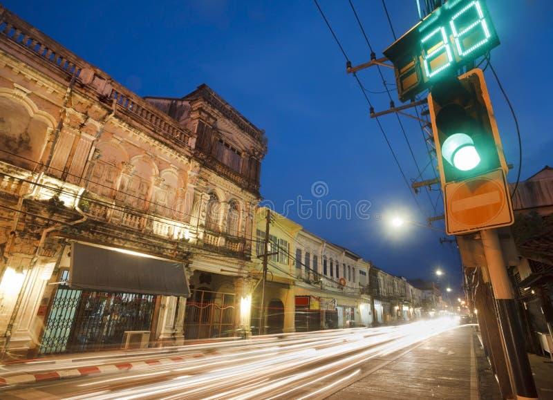 строя старый городок phuket стоковые изображения