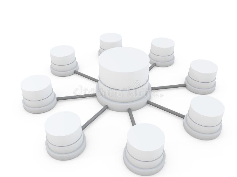 структура базы данных иллюстрация вектора