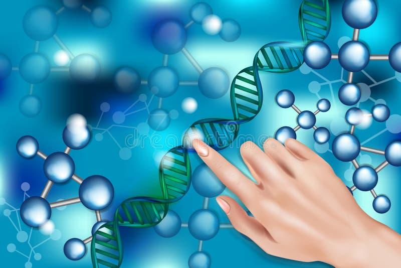 Структура ДНК цифров иллюстрация штока