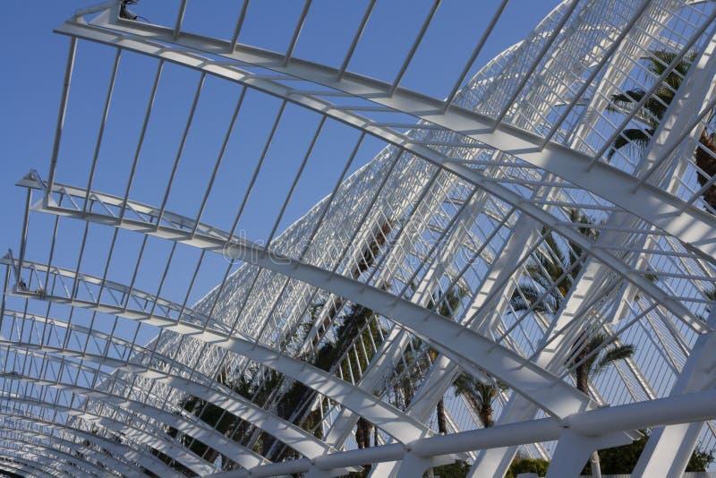 Структура здания города науки в Валенсия стоковые фотографии rf
