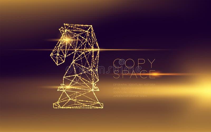 Структура и объектив рамки света bokeh полигона wireframe рыцаря шахмат футуристические flare, illustratio дизайна концепции стра иллюстрация штока
