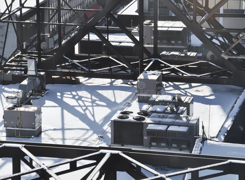 Структура крыши зимы стоковые изображения rf