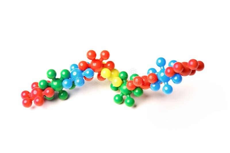 Структура молекулы изолированной на белой предпосылке стоковые изображения rf
