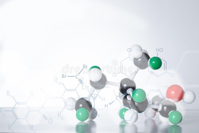 Структура молекулы дна атома науки стоковое изображение