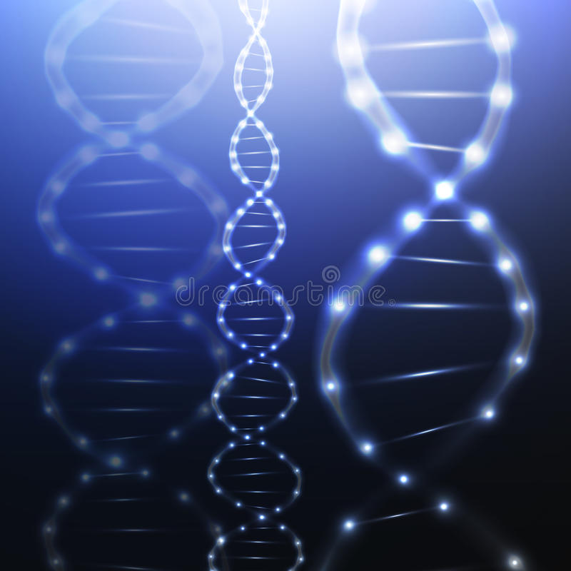 Структура молекулы дна на темной предпосылке наука иллюстрация штока