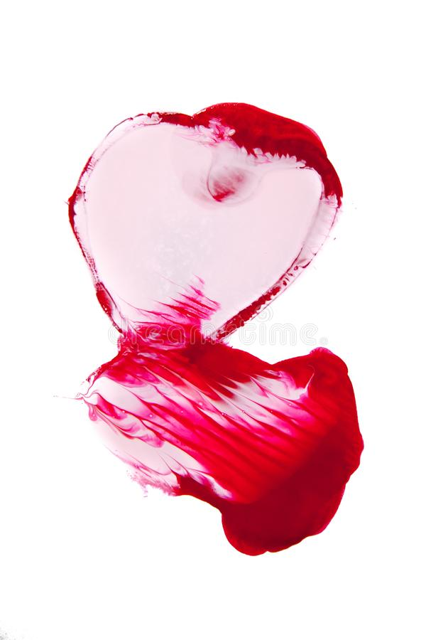 Структура сделанная маникюра в красном цвете стоковое изображение