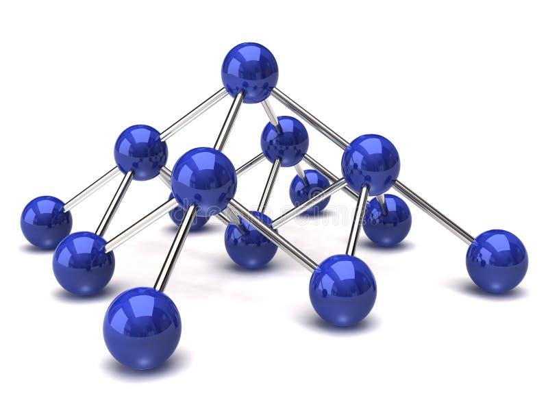 структура сети иллюстрация вектора