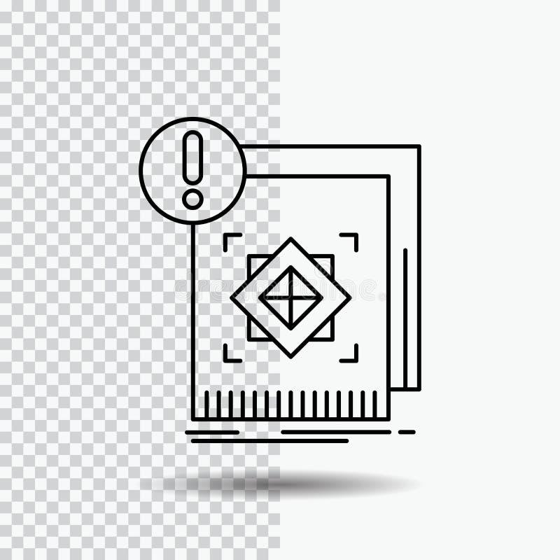 структура, стандарт, инфраструктура, информация, бдительная линия значок на прозрачной предпосылке r иллюстрация штока