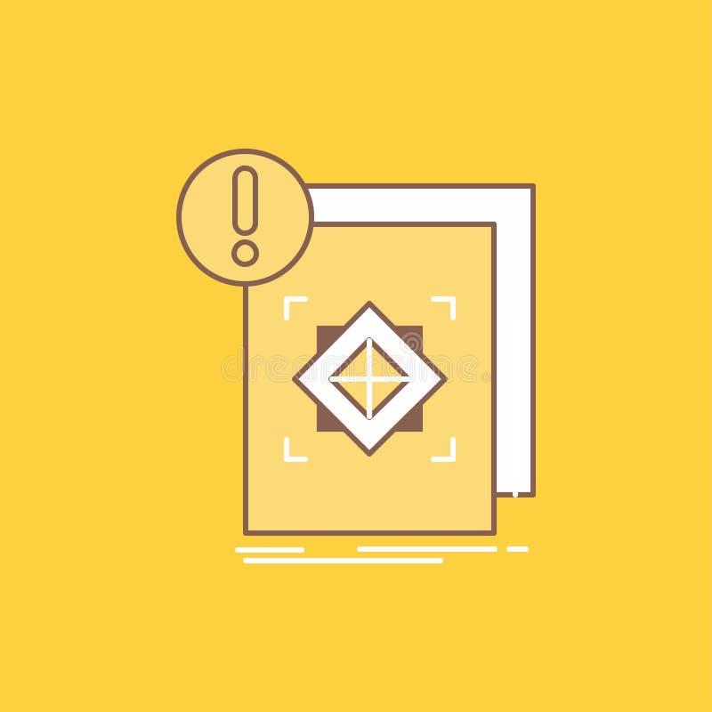 структура, стандарт, инфраструктура, информация, бдительная плоская линия заполнила значок Красивая кнопка логотипа над желтой пр бесплатная иллюстрация