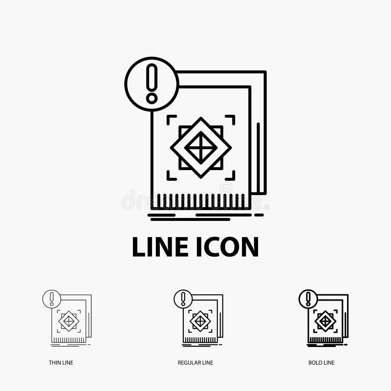 структура, стандарт, инфраструктура, информация, бдительный значок в тонкой, регулярной и смелой линии стиле r иллюстрация вектора