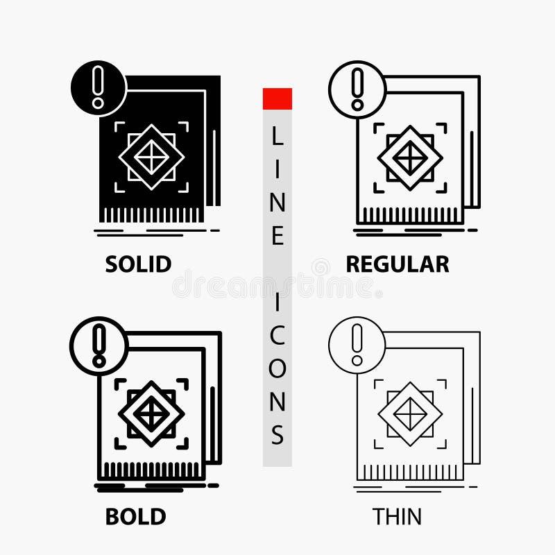 структура, стандарт, инфраструктура, информация, бдительный значок в тонких, регулярных, смелых линии и стиле глифа r бесплатная иллюстрация