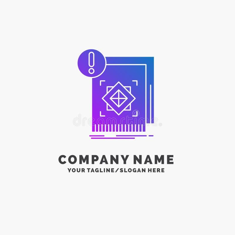 структура, стандарт, инфраструктура, информация, бдительный пурпурный шаблон логотипа дела r иллюстрация вектора