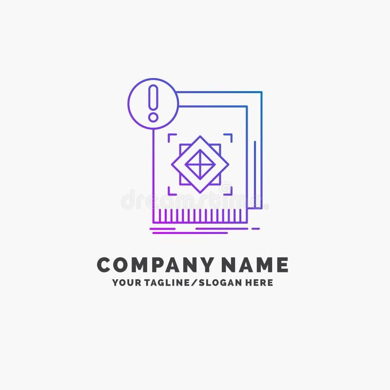 структура, стандарт, инфраструктура, информация, бдительный пурпурный шаблон логотипа дела r бесплатная иллюстрация
