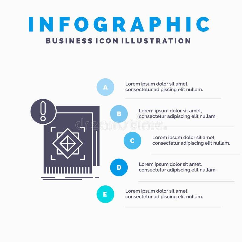 структура, стандарт, инфраструктура, информация, бдительный шаблон Infographics для вебсайта и представление Значок глифа серый с иллюстрация вектора