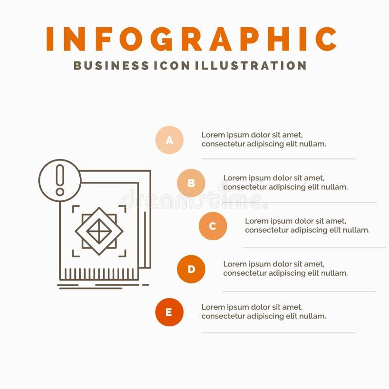 структура, стандарт, инфраструктура, информация, бдительный шаблон Infographics для вебсайта и представление Линия серый значок с бесплатная иллюстрация