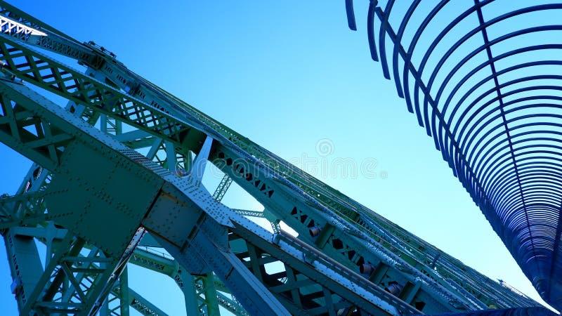 Структуры металла моста Jacques Cartier стоковая фотография rf
