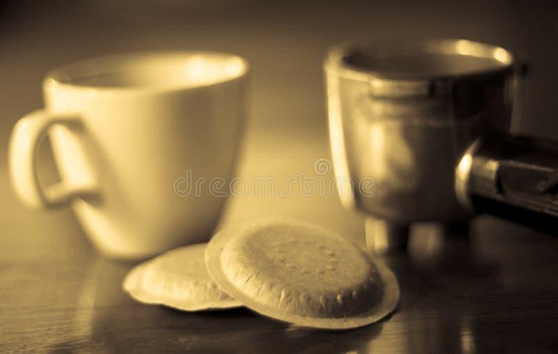 стручки espresso стоковое изображение