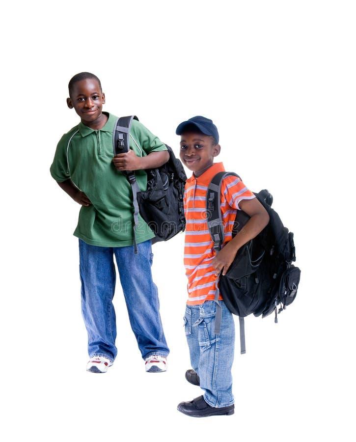 студенты афроамериканца стоковые фотографии rf