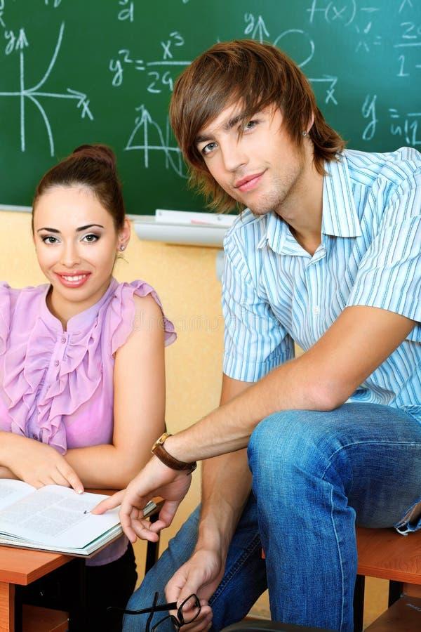 студенты пар стоковая фотография rf