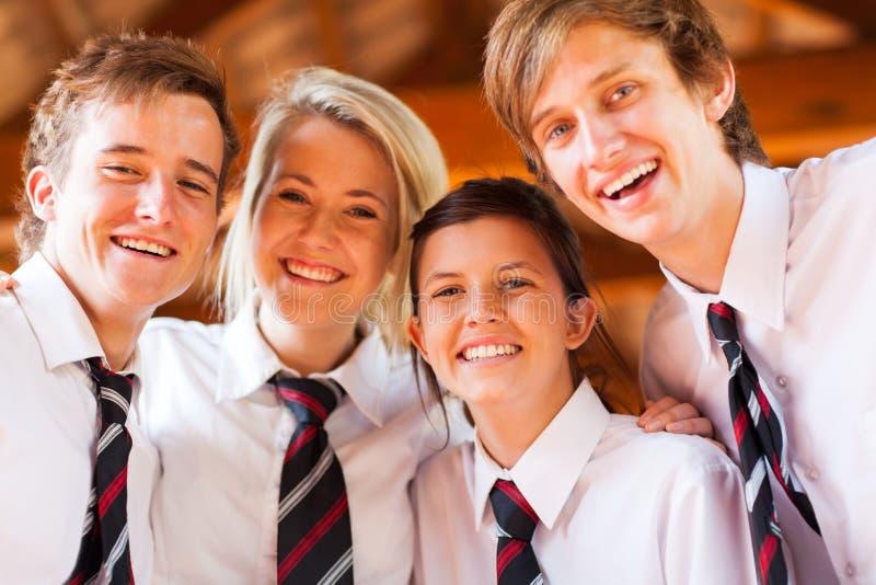 Студенты средней школы стоковое фото