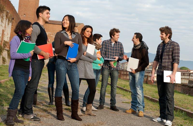 студенты этнической группы multi стоковая фотография rf