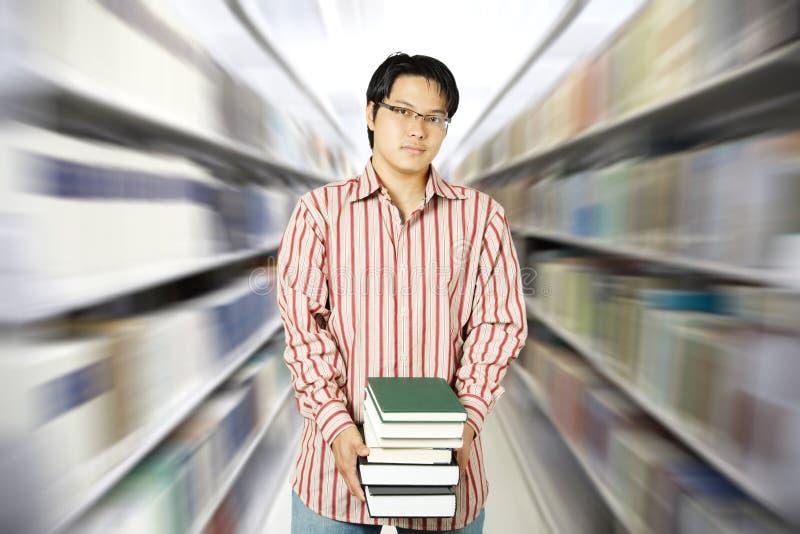 студент архива коллежа стоковое фото rf