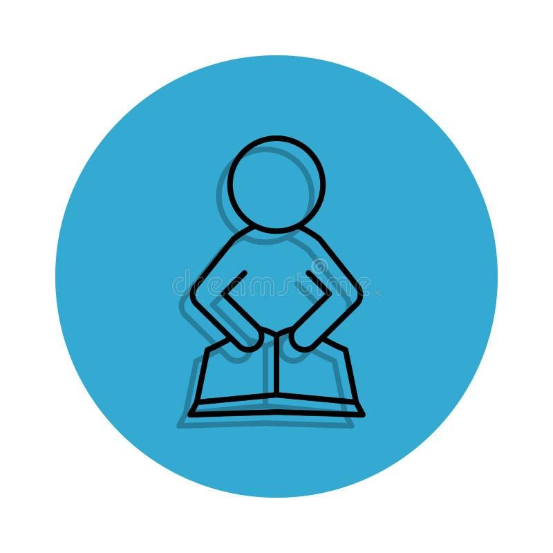 студент включенный значок Элемент школы для передвижных концепции и значка apps сети Тонкая линия значок с тенью в значке для web бесплатная иллюстрация