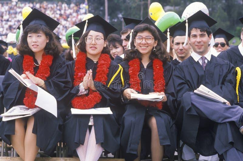 Студент-выпускники женщин стоковое фото rf