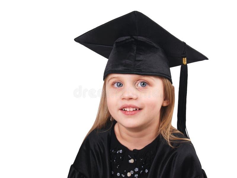 Студент-выпускник маленькой девочки стоковая фотография rf