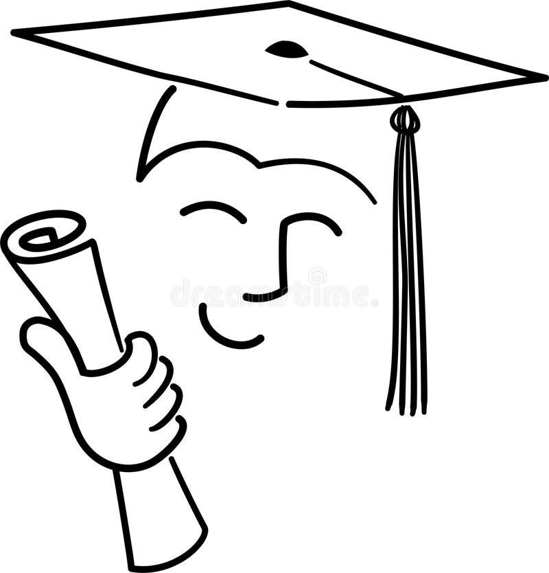 студент-выпускник шаржа ai иллюстрация штока