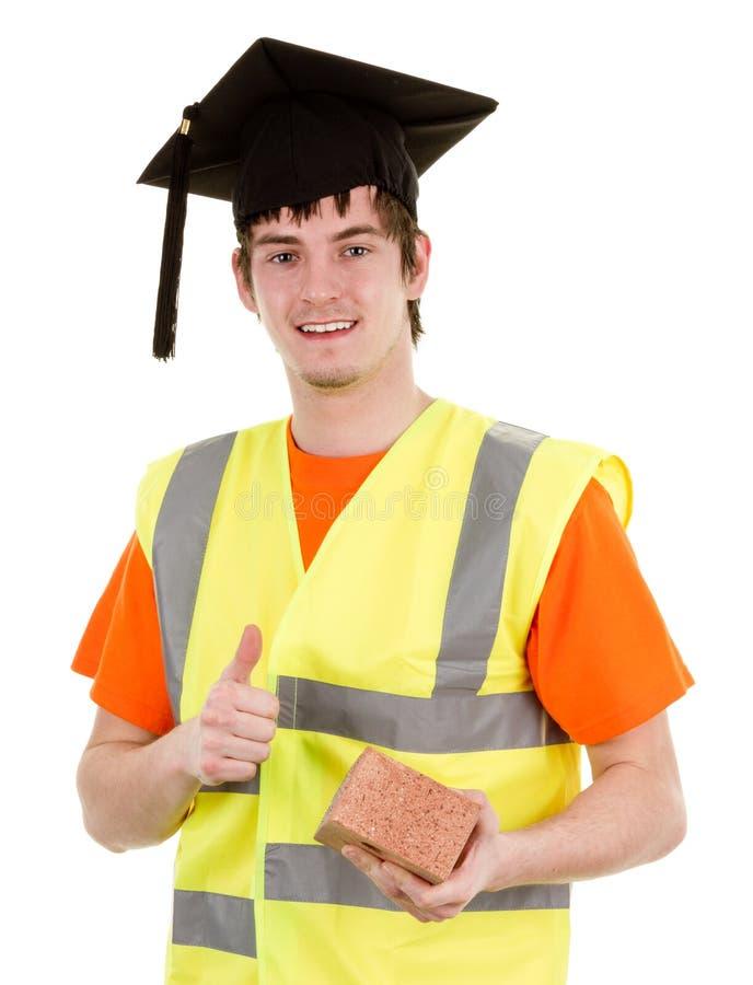 студент-выпускник bricklayer стоковое фото rf