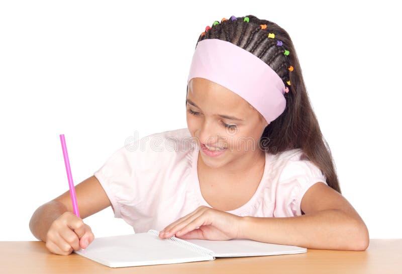 студент девушки маленький стоковое фото rf