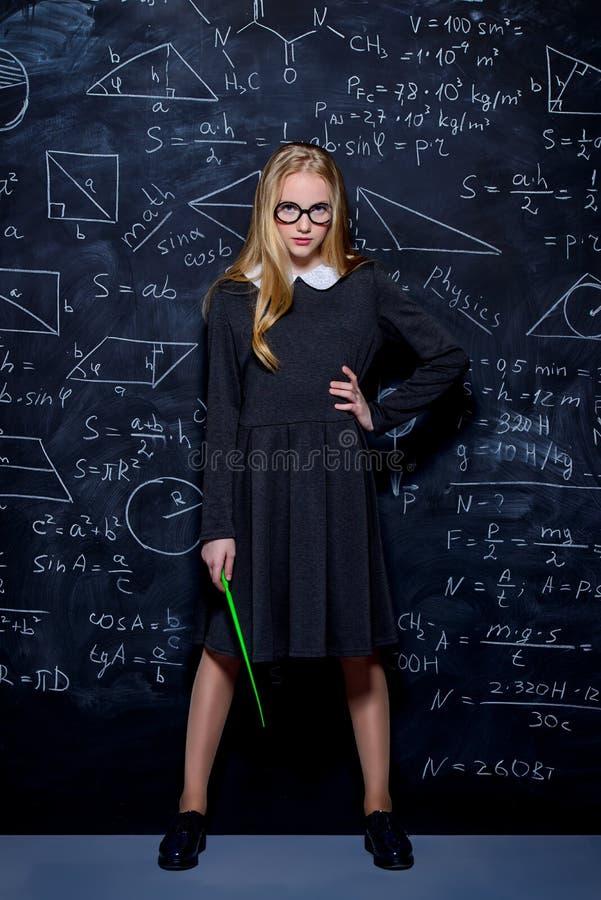 студент девушки серьезный стоковое фото