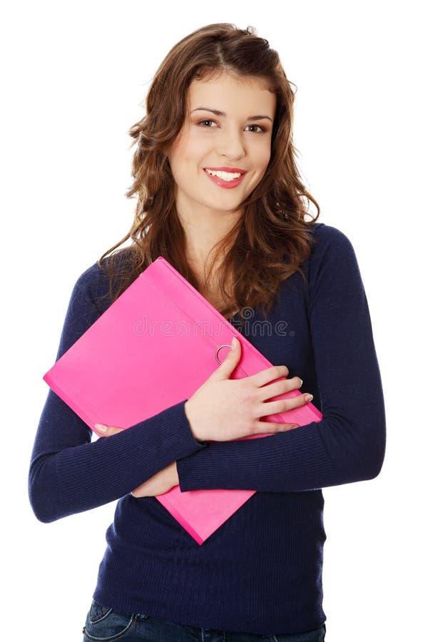 студент девушки счастливый предназначенный для подростков стоковые фотографии rf