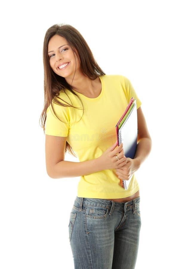 студент девушки счастливый стоковое изображение