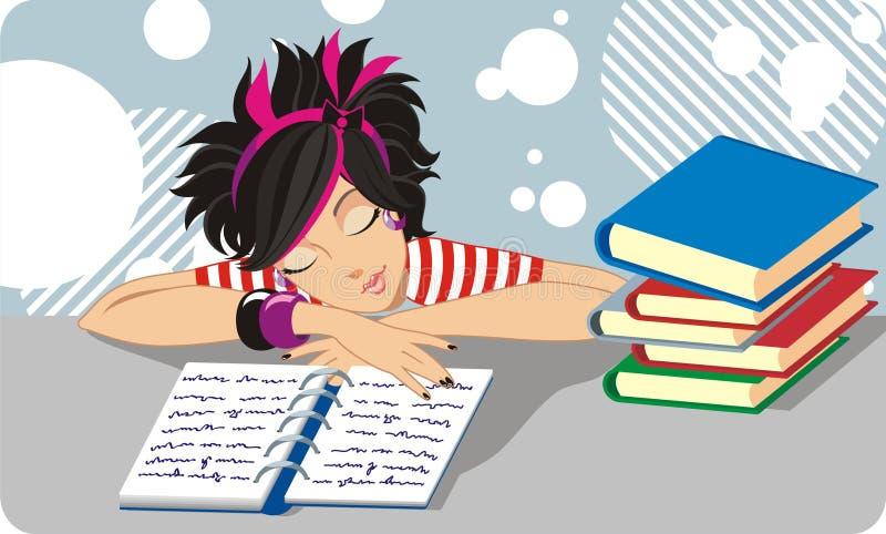 студент девушки иллюстрация вектора