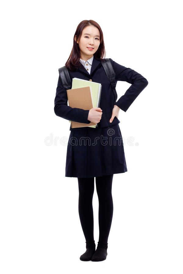 Студент детенышей довольно азиатский стоковое фото rf
