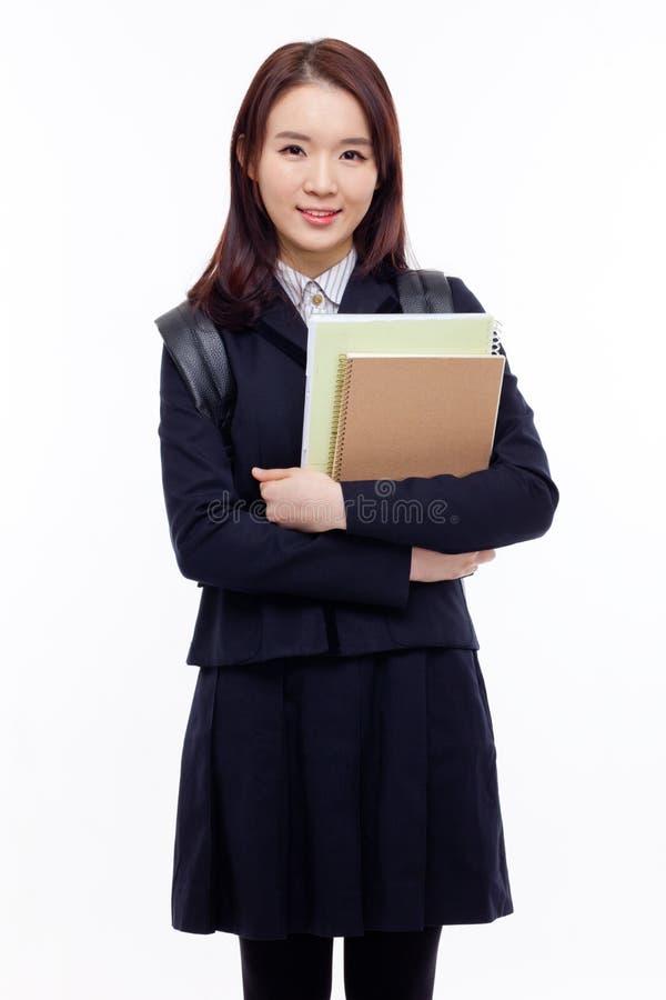 Студент детенышей довольно азиатский стоковое изображение rf