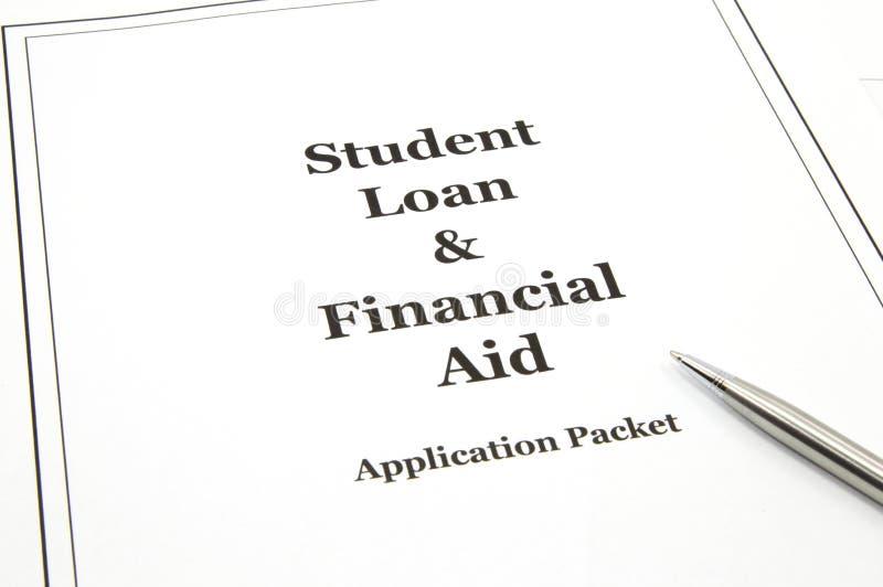 студент пакета займа применения помощи финансовохозяйственный стоковое фото rf