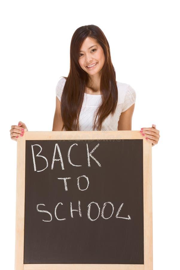 студент школы заднего классн классного азиата женский к стоковое фото rf