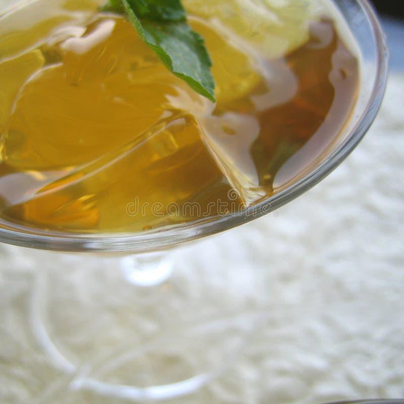 Студень зеленого чая стоковые фотографии rf
