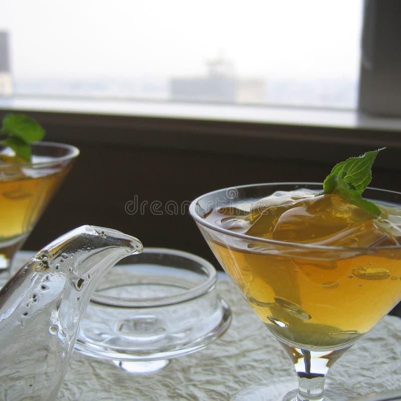 Студень зеленого чая стоковые фото
