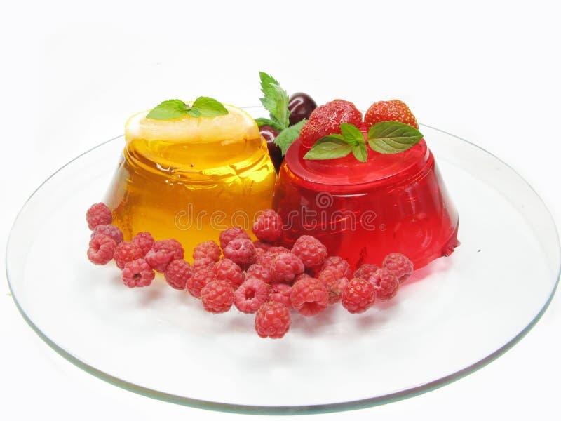 студень плодоовощ 2 десерта стоковые фотографии rf
