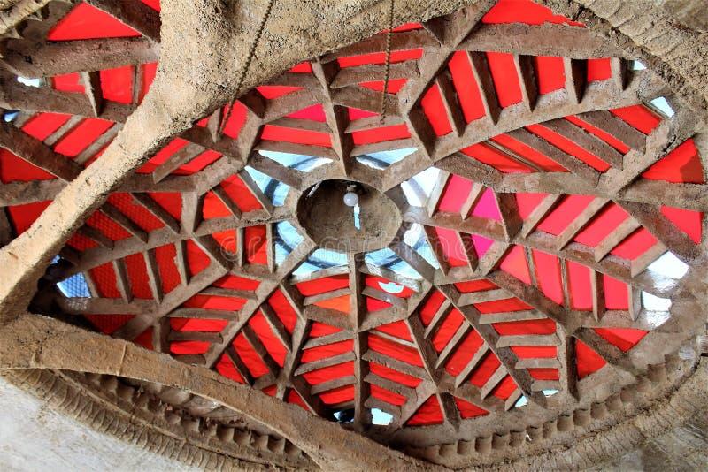 Студии Cosanti Paolo Soleri, долина Scottsdale Аризона рая, Соединенные Штаты стоковое изображение